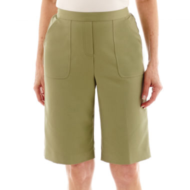 jcpenney.com | Alfred Dunner® Coastal Breeze Pull-On Cargo Shorts