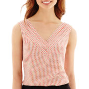 Worthington® Sleeveless V-Neck Blouse