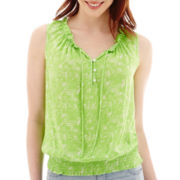 a.n.a® Sleeveless Ruffle Blouse