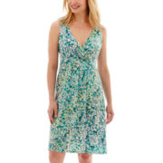 St. John's Bay® Sleeveless Flip Flop Dress - Petite