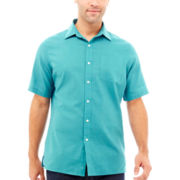 Claiborne® Short-Sleeve Linen Shirt