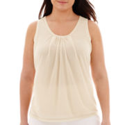Worthington® Mesh-Trim Tank Top - Plus