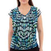 Worthington® Short-Sleeve Print Top - Plus