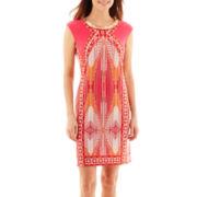 Studio 1® Sleeveless Jeweled-Neck Sheath Dress - Petite