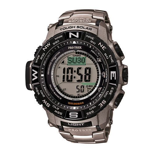 Casio® Mens Pro Trek Tough Solar Digital Sport Watch