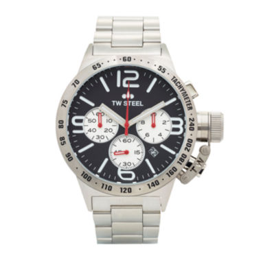 jcpenney.com | TW Steel Mens Silver-Tone Three Eye Canteen Bracelet Watch