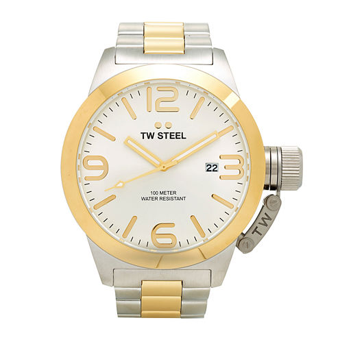 TW Steel Canteen Bracelet Mens Two-Tone Stainless Steel Link Watch