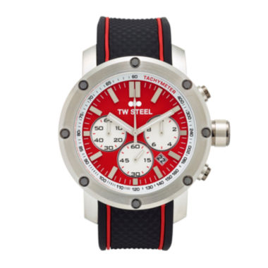 jcpenney.com | TW Steel Mens Chronograph Black and Red Grandeur Tech Strap Watch