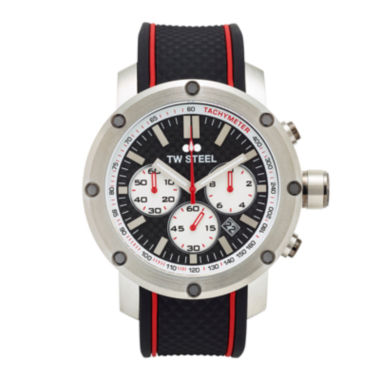 jcpenney.com | TW Steel Mens Chronograph Black and Silver-Tone Grandeur Tech Strap Watch