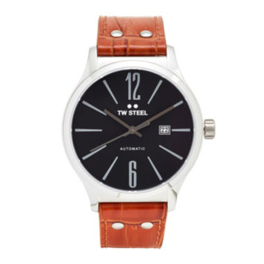 jcpenney.com | TW Steel Mens Brown and Black Slim Automatic Strap Watch