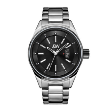 jcpenney.com | Jbw Mens Silvertone And Black Diamond Accent Bracelet Watch