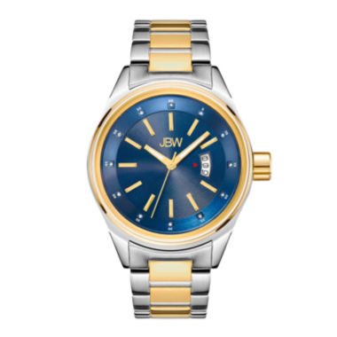 jcpenney.com | Jbw Mens Two Tone And Blue Dial Diamond Accent Bracelet Watch