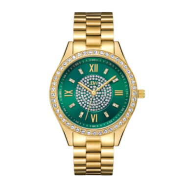 jcpenney.com | Jbw Womens Goldtone And Green Dial Diamond Accent Bracelet Watch