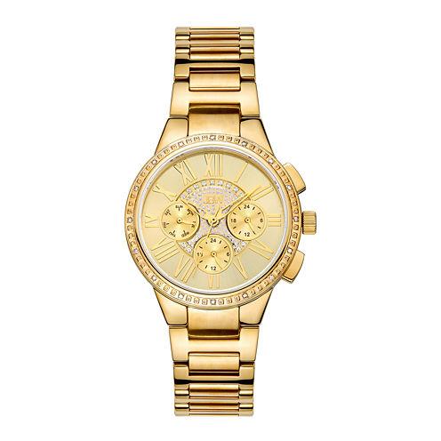 Jbw Womens Gold Tone Diamond Accent Bracelet Watchj6328e