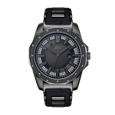 jcpenney.com | JBW Mens Diamond Accent Black Silicone Strap Watch
