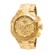 Invicta® Pro Diver Mens 18K Gold Over Stainless Steel Bracelet Watch