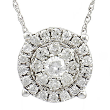 jcpenney.com | LIMITED QUANTITIES 1/2 CT. Diamond 14K White Gold Pendant Necklace