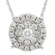 1/2 CT. Diamond 14K White Gold Pendant Necklace