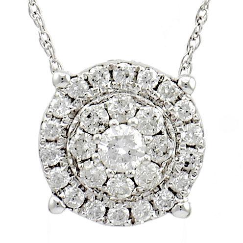 LIMITED QUANTITIES 1/2 CT. Diamond 14K White Gold Pendant Necklace