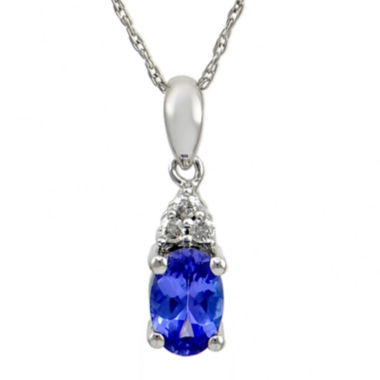 jcpenney.com | LIMITED QUANTITIES  Genuine Purple Tanzanite & Diamond Accent 14K White Gold Pendant Necklace