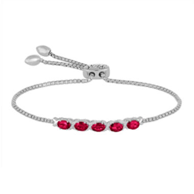 jcpenney.com | Rhythm and Muse Lab-Created Ruby & White Sapphire Sterling Silver Bracelet