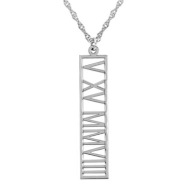 jcpenney.com | Personalized Roman Numeral Date Pendant Necklace