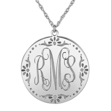 jcpenney.com | Personalized Sterling Silver Vine Monogram Pendant Necklace