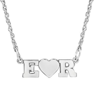 jcpenney.com | Personalized 2 Single Initial Heart Necklace