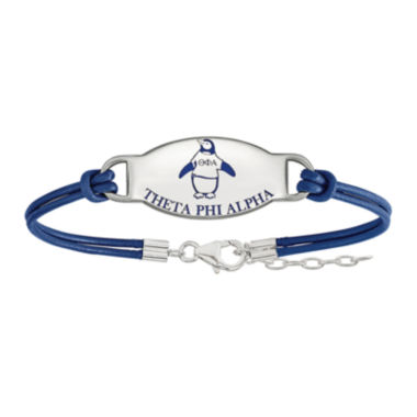 jcpenney.com | Theta Phi Alpha Enameled Sterling Silver Leather Bracelet