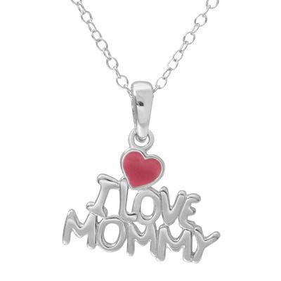 Hallmark kids sterling silver enamel i love mommy pendant necklace hallmark kids sterling silver enamel i love mommy pendant necklace aloadofball Image collections