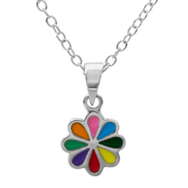 jcpenney.com | Hallmark Kids Sterling Silver Enamel Flower Pendant Necklace