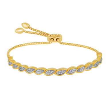 jcpenney.com | Rhythm and Muse 1/10 CT. T.W. Diamond In 14K Yellow Gold Over Silver Bracelet