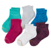 Gold Toe® 5-pk. Space-Dyed Crew Socks - Girls