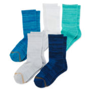 Gold Toe® 6-pk. Space-Dyed Quarter Socks - Girls