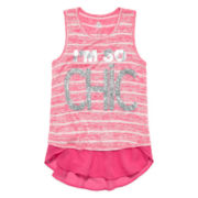 Total Girl® Chiffon Tank Top - Girls 7-16 and Plus