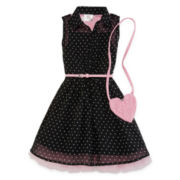 Knit Works® Sleeveless Shirtdress - Preschool Girls 4-6x