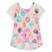 Arizona Short Sleeve Lace Tee - Toddler Girls 2t-5t