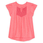 Arizona Cap-Sleeve Lace-Yoke Top - Toddler Girls 2t-5t