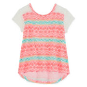Arizona Short-Sleeve Lace Tee - Preschool Girls 4-6x