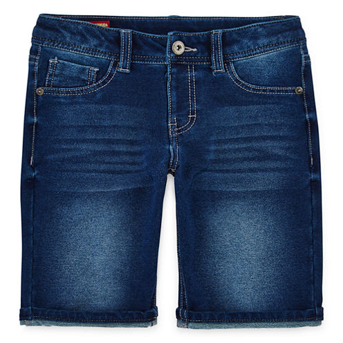 Arizona Knit Roll-Cuff Bermuda Shorts - Girls 7-16 and Plus