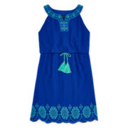 My Michelle® Sleeveless Scalloped-Hem Skater Dress - Girls 7-16