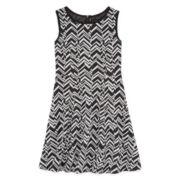 Total Girl® Sleeveless Chevron A-Line Dress - Girls 7-16