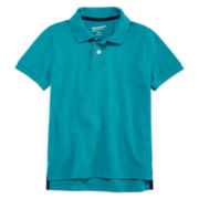 Arizona Short-Sleeve Solid Cotton Polo - Preschool Boys 4-7