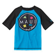 Maui & Sons Short-Sleeve Rash Guard - Toddler Boys 2t-4t