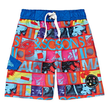 jcpenney.com | Maui & Sons Graphic Swim Trunks - Toddler Boys 2t-4t