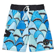 Maui & Sons Shark-Nose Swim Trunks - Boys 4-7