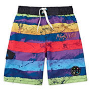 Maui & Sons Striped Swim Trunks - Boys 4-7