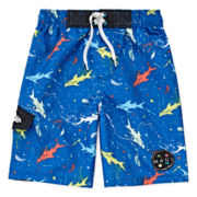Maui & Sons Shark Splat Swim Trunks - Toddler Boys 2t-4t