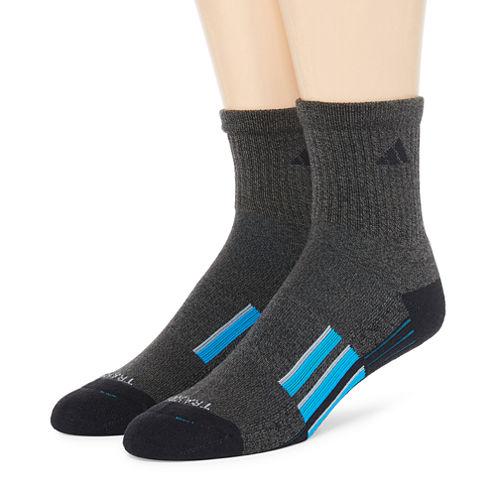 adidas® Mens 2-pk. climalite® Performance Short Crew Socks