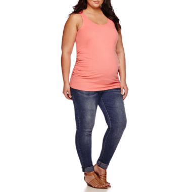 jcpenney.com | a.n.a® Maternity Racerback Tank Top or Overbelly Roff Cuff Skinny Jeans - Plus